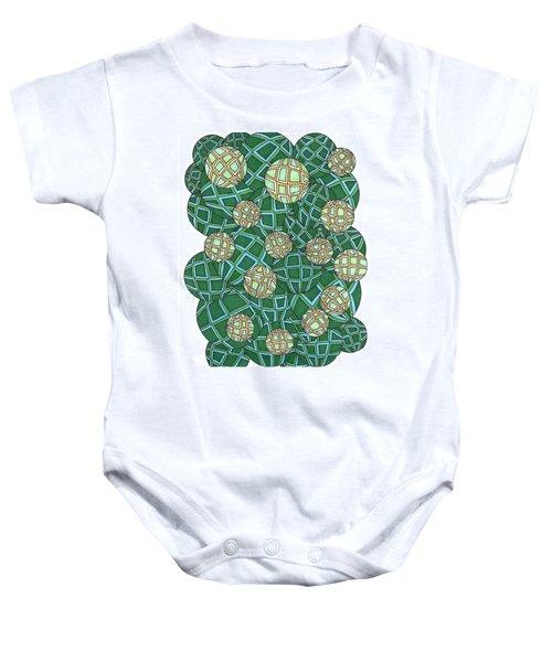 Spheres Cluster Green Baby Onesie