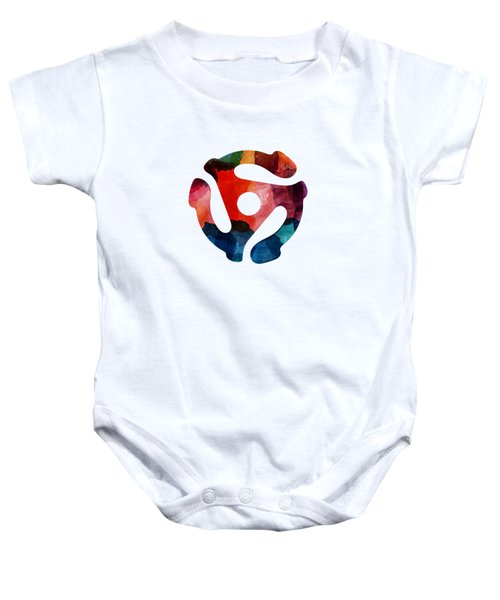 Spinning 45- Art By Linda Woods Baby Onesie