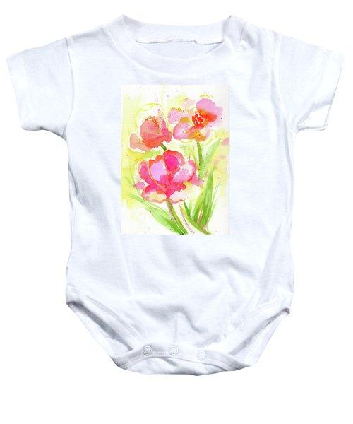 Splash Of Pinks  Baby Onesie