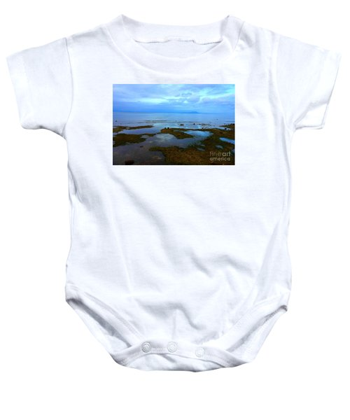 Spooky Morning Tide Receded From Beach Baby Onesie
