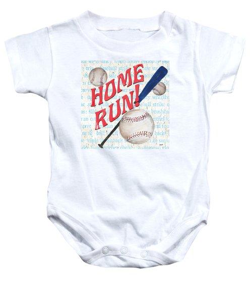 Sports Fan Baseball Baby Onesie