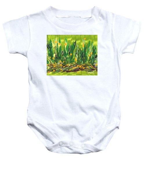 Spring Garden Baby Onesie