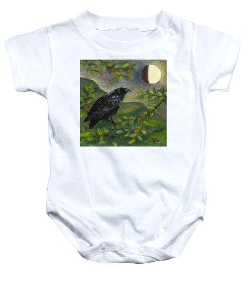 Spring Moon Raven Baby Onesie