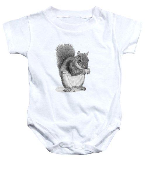 Squirrel #2 Baby Onesie by Rita Palmer