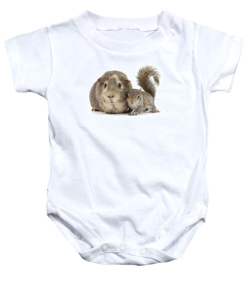 Squirrel And Guinea Baby Onesie