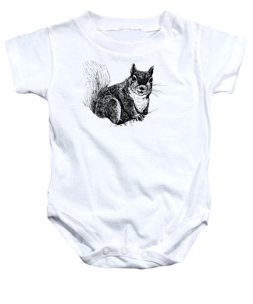 Squirrel Drawing Baby Onesie