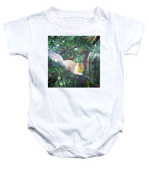 Squirrel Snacking Baby Onesie
