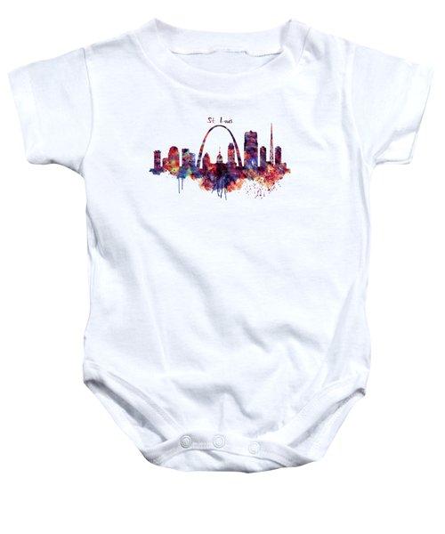 St Louis Skyline Baby Onesie