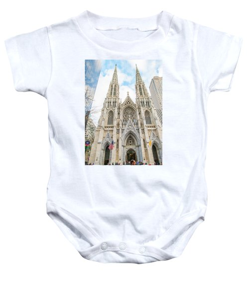 St. Patrick Cathedral In New York Baby Onesie