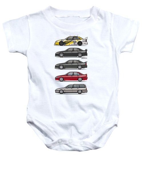 Stack Of Opel Omegas Vauxhall Carlton A Baby Onesie