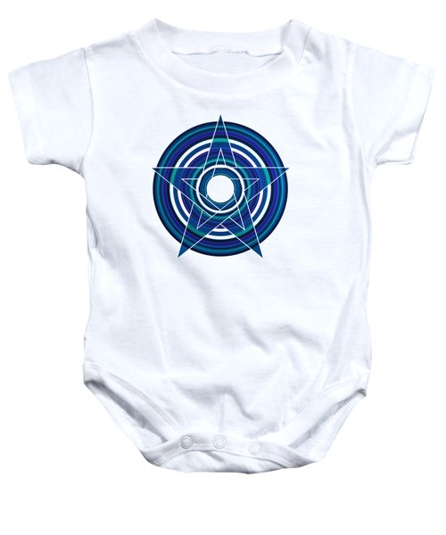 Star Marine Over Concentric Circles Baby Onesie