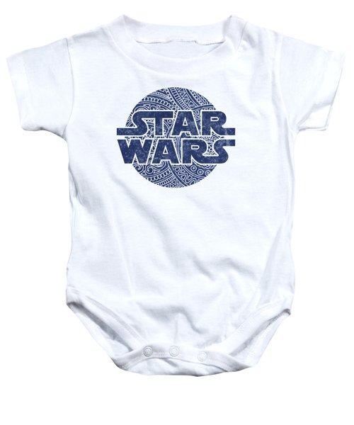 Star Wars Art - Logo - Blue Baby Onesie