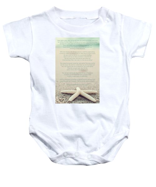 Starfish Make A Difference Vintage Set 1 Baby Onesie