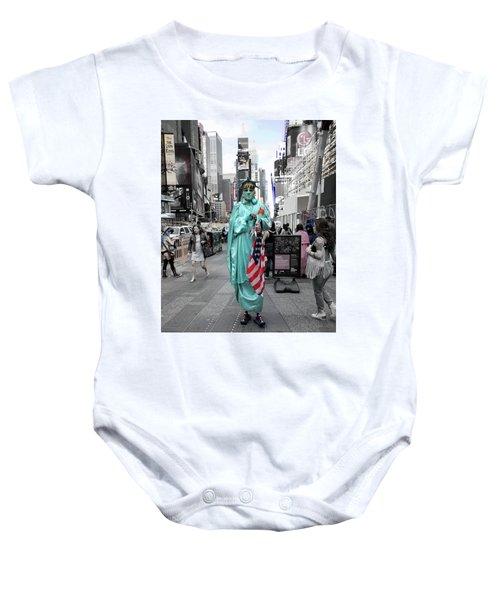 Statue Of Liberty Guy Baby Onesie