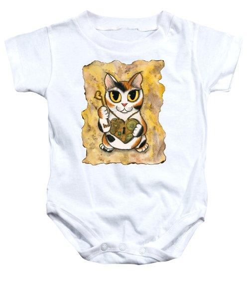 Steampunk Valentine Cat Baby Onesie