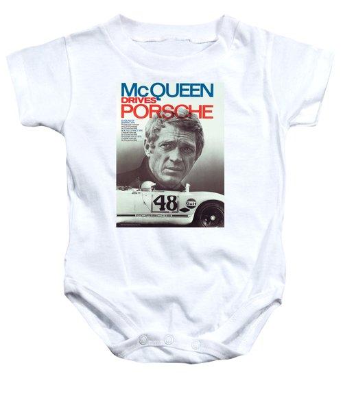 Steve Mcqueen Drives Porsche Baby Onesie