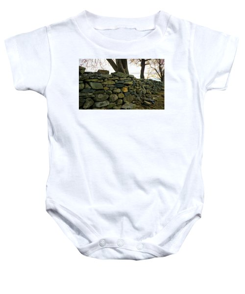 Stone Wall, Colt State Park Baby Onesie