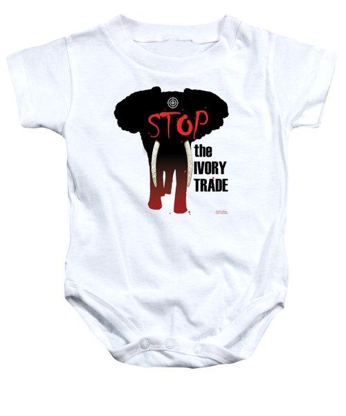 Stop The Ivory Trade Baby Onesie