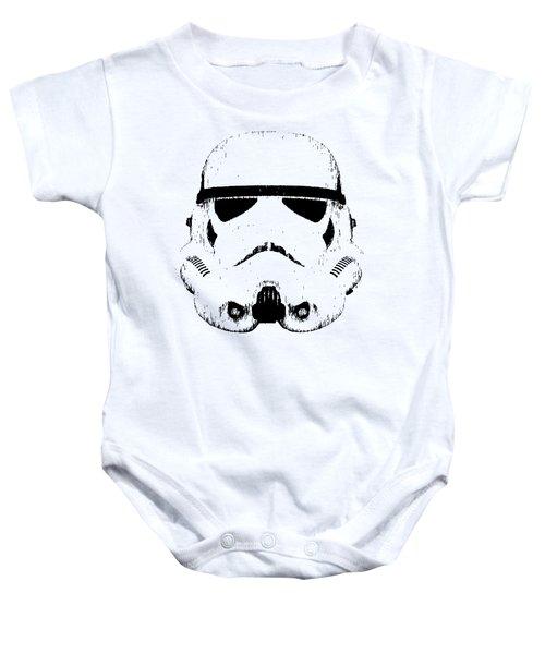Stormtrooper Helmet Star Wars Tee Black Ink Baby Onesie