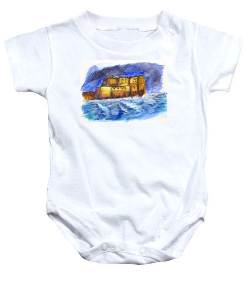 Stormy Castle Dell'ovo, Napoli Baby Onesie