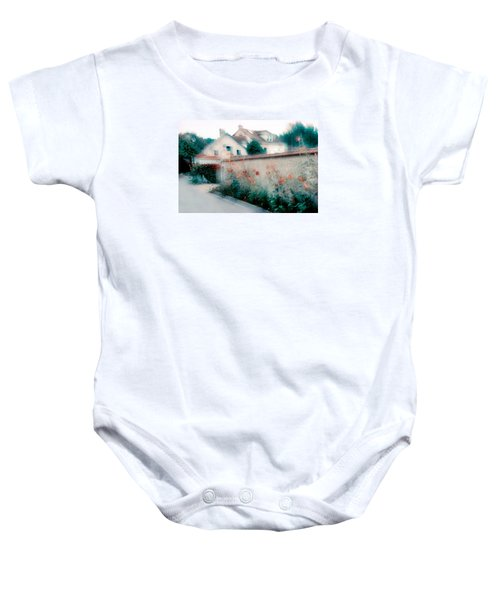 Street In Giverny, France Baby Onesie by Dubi Roman