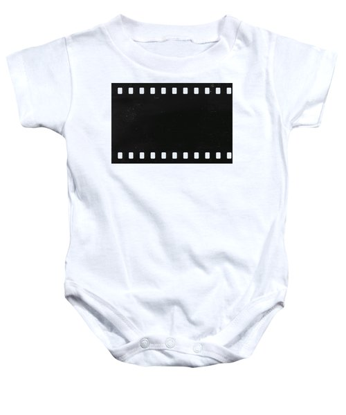 Strip Of Old Celluloid Film With Dust And Scratches Baby Onesie