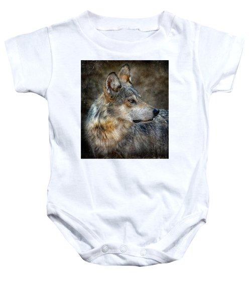 Summertime Coated Wolf Baby Onesie