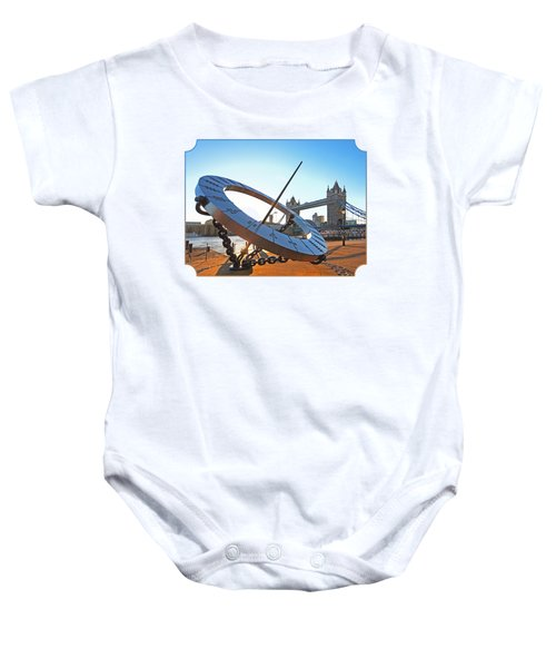 Sun Dial And Tower Bridge London Baby Onesie