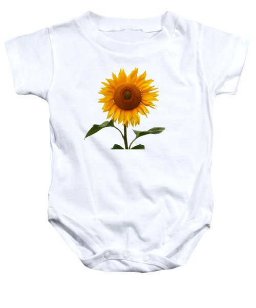 Sunflower On White Baby Onesie