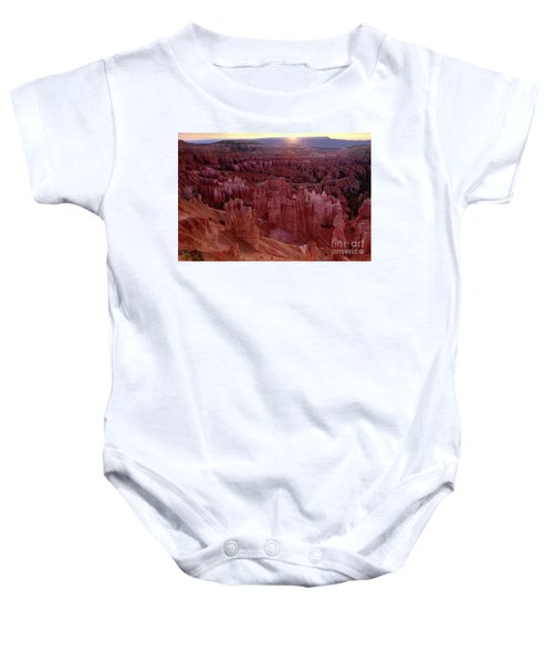 Sunrise Over The Hoodoos Bryce Canyon National Park Baby Onesie