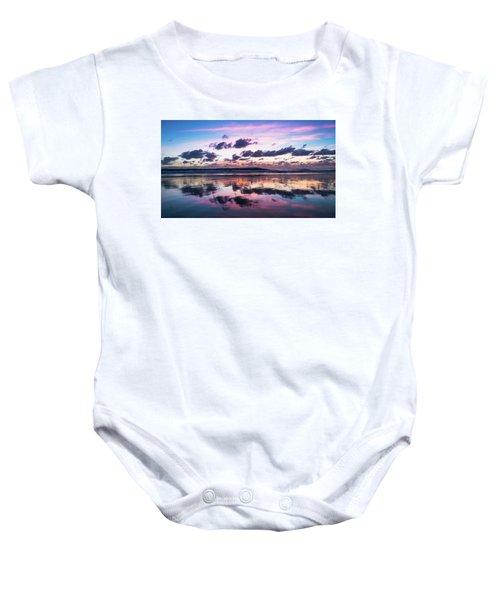 Sunrise Pink Wisps Delray Beach Florida Baby Onesie
