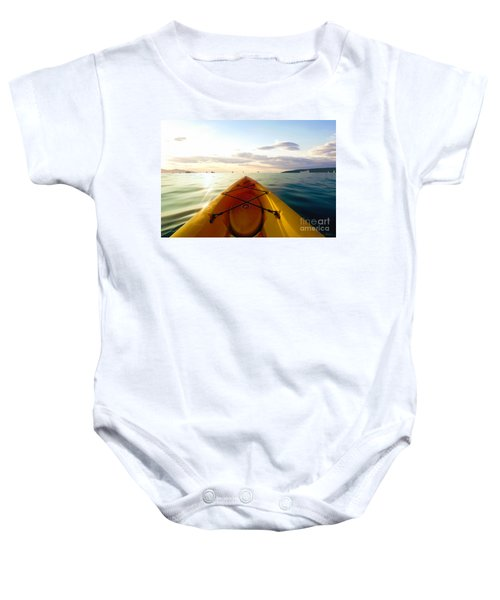 Sunrise Seascape Kayak Adventure Baby Onesie
