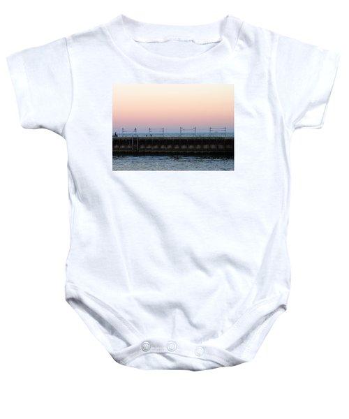 Sunset At Diversey Harbor Baby Onesie