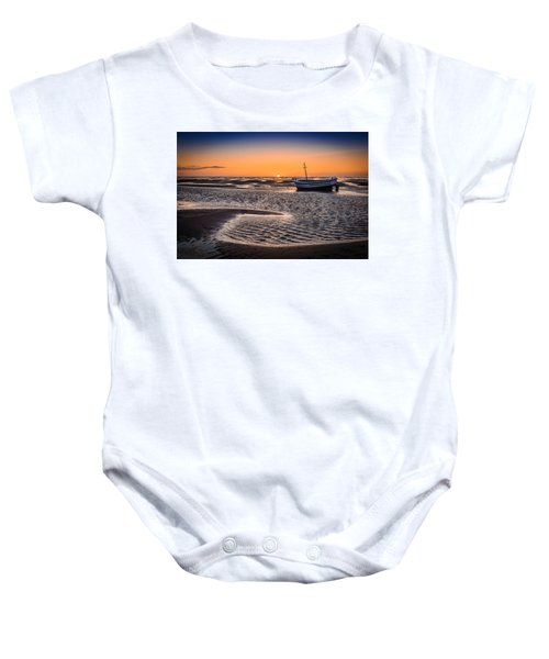 Sunset, Meols Beach Baby Onesie