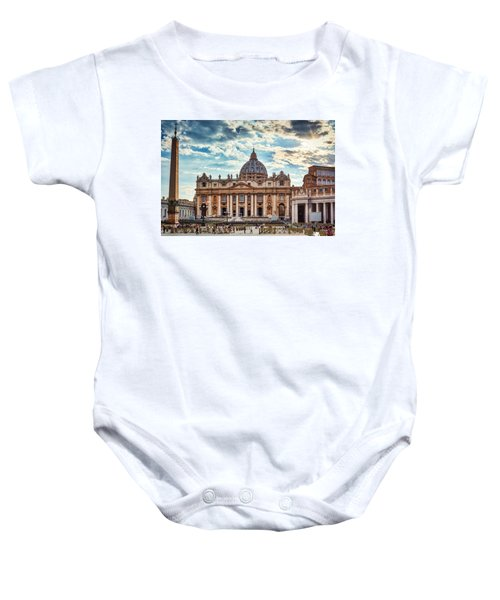Sunset Over The Papal Basilica Of Saint Peter Baby Onesie
