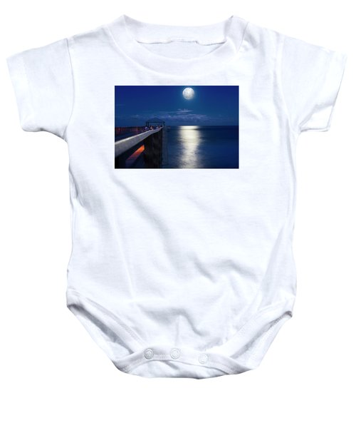 Super Moon At Juno Baby Onesie