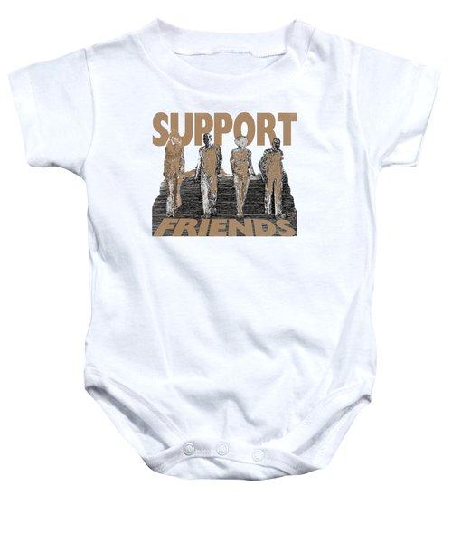 Support Friends Baby Onesie