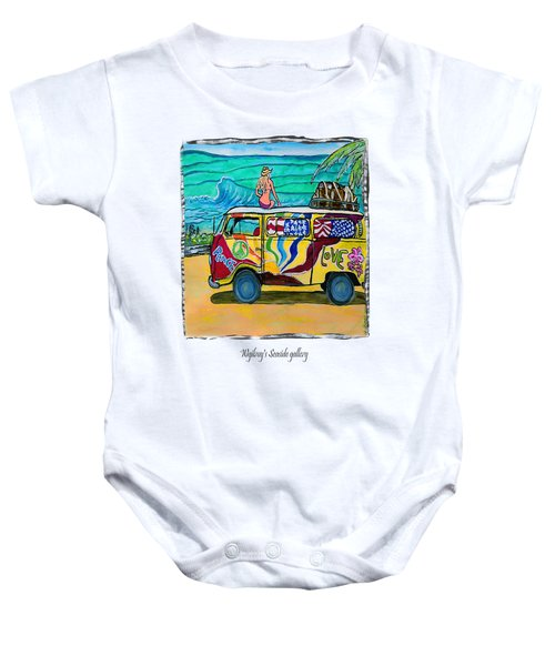 Surf Art/vw Bus Baby Onesie