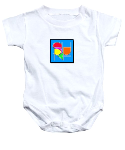 Surf In Abstract Baby Onesie