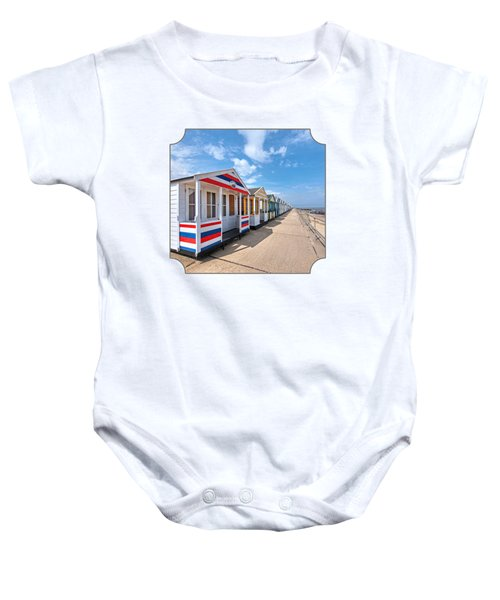 Surf's Up - Colorful Beach Huts Baby Onesie