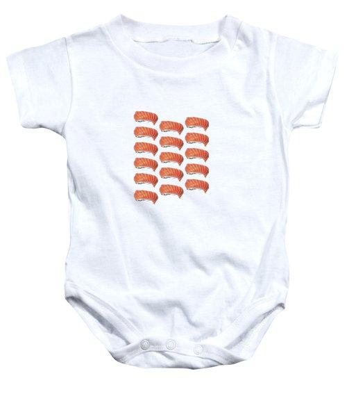Sushi T-shirt Baby Onesie by Edward Fielding