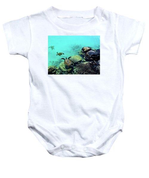 Swimming Honu Baby Onesie