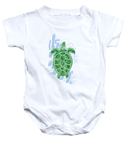 Swimming Turtle Baby Onesie