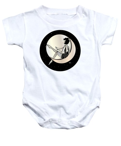 Swinging On The Moon Baby Onesie