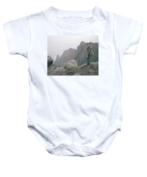 T-04701 Fred Beckey On Mt. Si 1958  Baby Onesie