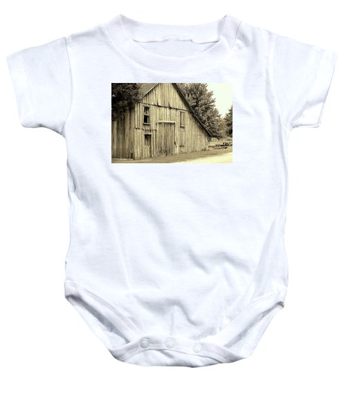 Tall Barn Baby Onesie