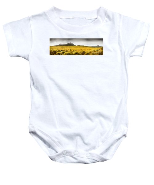 Tasmania Mountains Of The East-west Great Divide  Baby Onesie