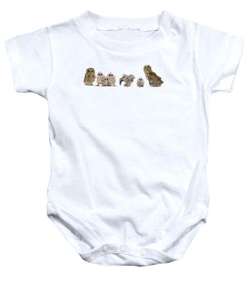 Tawny Owl Family Baby Onesie