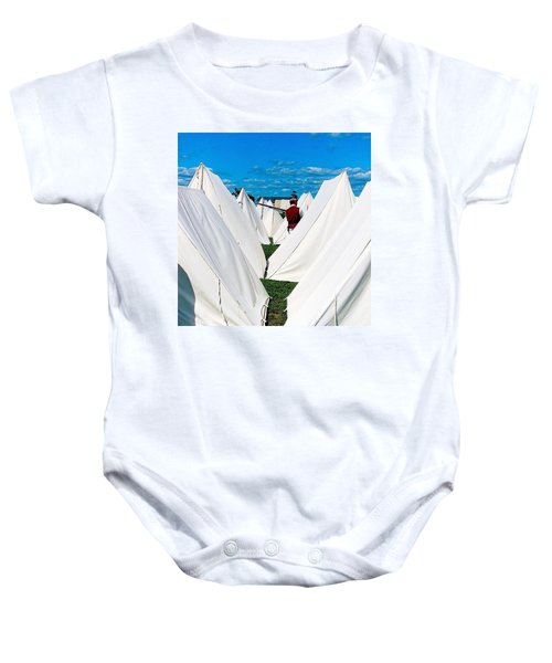 Field Of Tents Baby Onesie