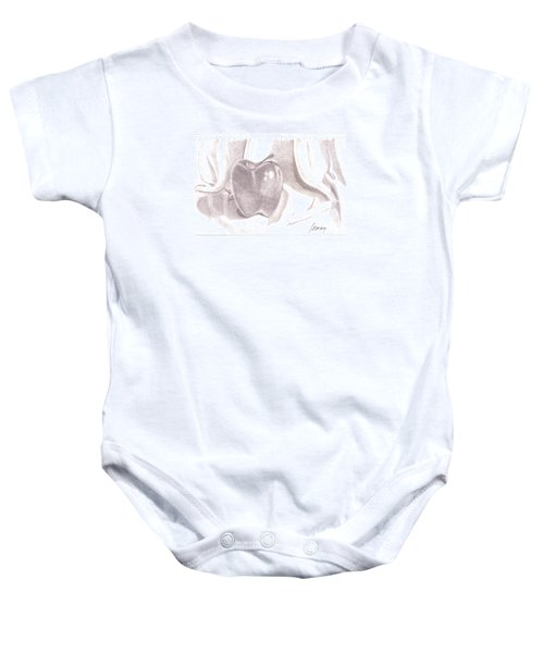 Baby Onesie featuring the drawing Teacher's Pet by Rod Ismay